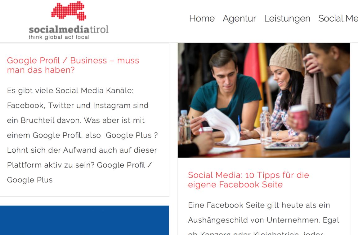 Social Media Tirol Text